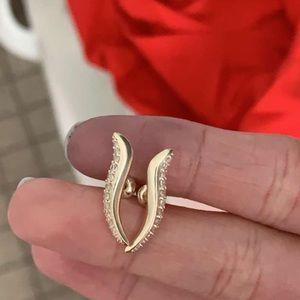 Kendra Scott gold and cz earrings